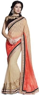 ASHISH Solid Fashion Brasso Sari