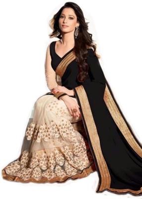 Jhankar Fab Embriodered Bollywood Georgette Sari