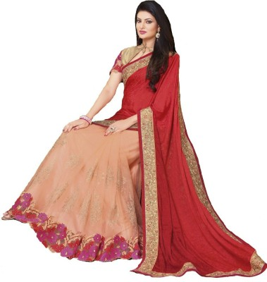 Navya Fashion Self Design, Embriodered Fashion Georgette, Net Sari