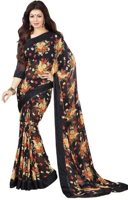 Hian Printed Bollywood Handloom Georgette Sari