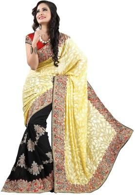 Divy Embriodered Fashion Brasso Sari
