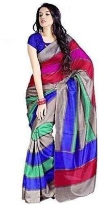 The Designer House Printed Bhagalpuri Handloom Khadi Sari