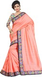 Ethnic For You Plain Bhagalpuri Silk Sar...