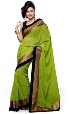 ST saree Solid Bollywood Pure Georgette Sari