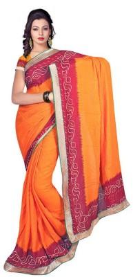 ASN Printed Bandhani Georgette Sari