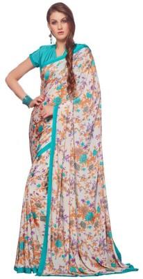 Trusha Dresses Printed Fashion Pure Crepe Sari