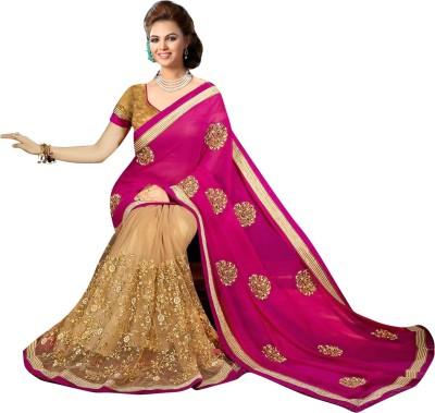 Kuki Fashion Embriodered Daily Wear Georgette Sari