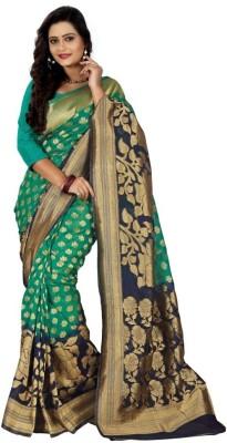 Sareeka Sarees Plain, Embriodered Dharmavaram Banarasi Silk Sari