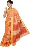 Korni Printed Gadwal Cotton, Silk Saree ...