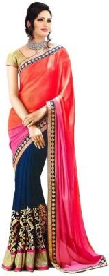 Informationworlds Embriodered Bollywood Art Silk, Cotton Sari