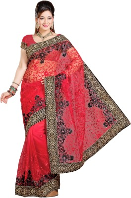 Preeti Solid Bollywood Net Sari