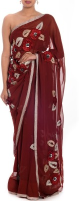 Textures Fashion Embellished Bollywood Georgette Sari