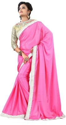 Snreks Collection Plain Fashion Silk Sari