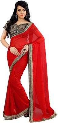 Maulik Enterprise Embriodered Bollywood Georgette Sari