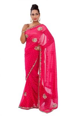 Shri Narayan Fashions Embellished Fashion Georgette Sari