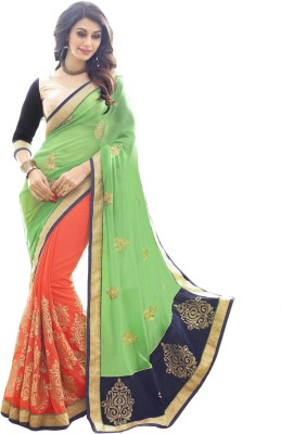Angel Fab Embriodered Bollywood Georgette Sari