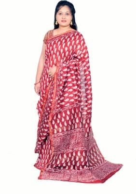 Rashmi Boutique Printed, Self Design Maheshwari Cotton Sari