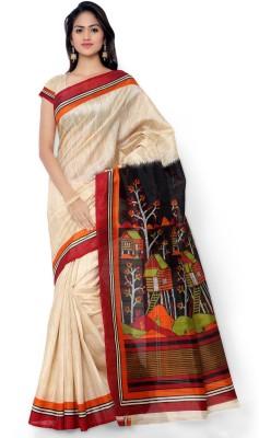 Indrani Floral Print Bollywood Art Silk Sari