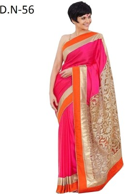 Sumitra Designs Plain Daily Wear Chiffon Sari