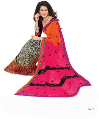 Ridham Sarees Embriodered Fashion Handloom Georgette Sari