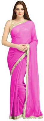 KamaniGarment Self Design Daily Wear Georgette Sari
