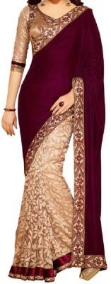 shivansh Embriodered Bollywood Velvet Sari