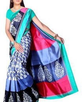 ARVM SAREES Solid Baluchari Art Silk Sari