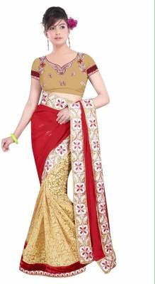 Radhe Krishna Creation Embriodered Bollywood Brasso Fabric Sari