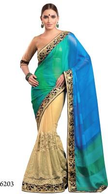 Parvati Fabrics Embriodered Bollywood Chiffon Sari