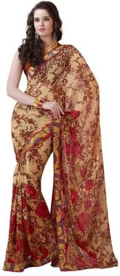 BlueWoman Printed Bollywood Georgette Sari