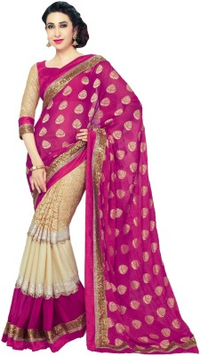 JK Creation Self Design Fashion Viscose Sari