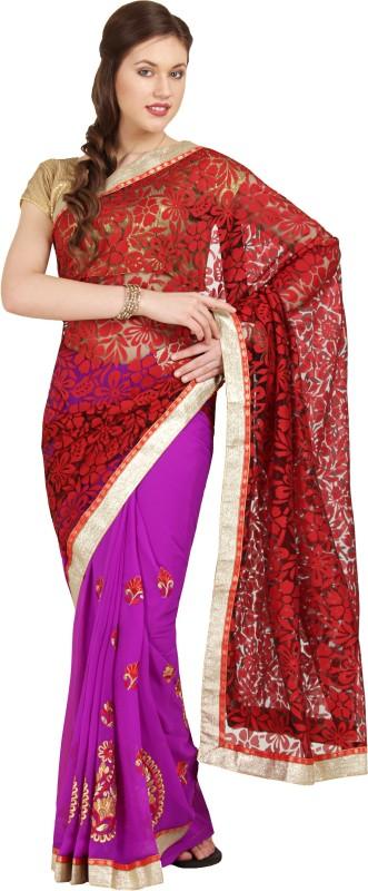 Aryahi Printed Fashion Synthetic Saree(Red)