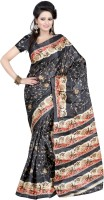 Kajal Sarees Striped Fashion Art Silk Saree(Multicolor)