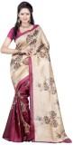 Makekaartz Printed Bhagalpuri Silk Sari
