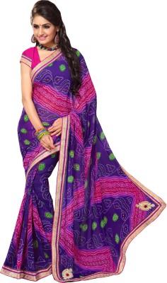 Jayanshi Self Design Bandhej Georgette Sari