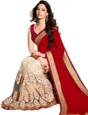 Krishna Fab Embriodered Bollywood Chiffon, Net Sari