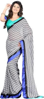 Budget Vastra Printed Fashion Satin Sari