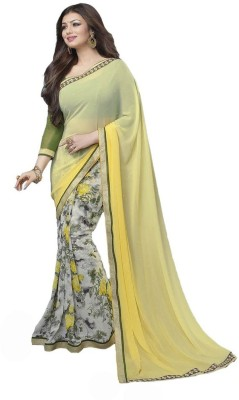 Uma Traders Printed Fashion Chiffon Sari