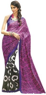 AVR FASHIONS Printed Daily Wear Cotton Sari