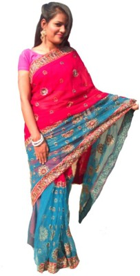 Sams Collection Embriodered Fashion Net Sari
