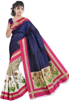 Grahlaxmi Printed Bhagalpuri Silk Sari