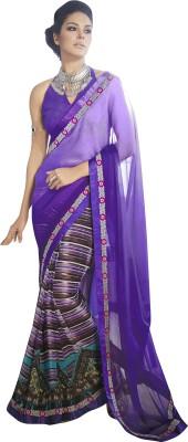Sahiba Striped Fashion Georgette Sari