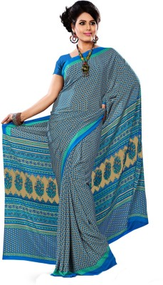 Urban Vastra Floral Print Daily Wear Raw Silk Sari