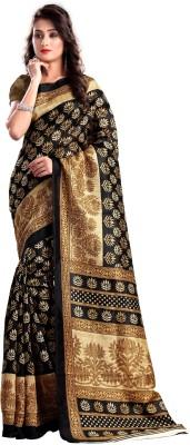 laazree Printed Bhagalpuri Dupion Silk Sari