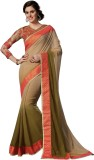 Sara By Me Plain Fashion Georgette Saree...