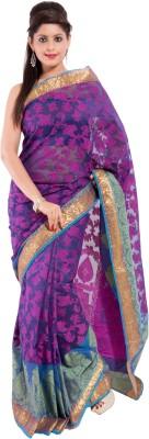 Sinjara Floral Print Banarasi Banarasi Silk Sari