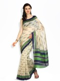 Satrang Printed Art Silk Saree (Beige)
