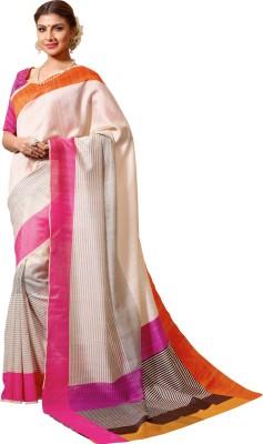 Velvetic Striped Fashion Poly Silk Sari