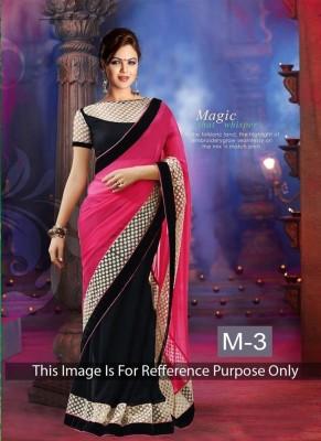 Ruaab Fashion Solid Fashion Georgette Sari