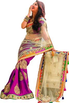 Shree Hans Creation Embellished, Paisley, Floral Print Bollywood Georgette, Net Sari